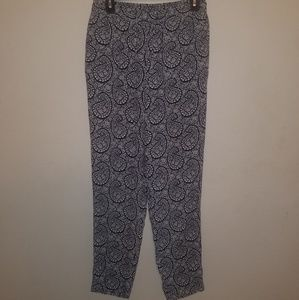 Talbots | Joggers in Navy & White